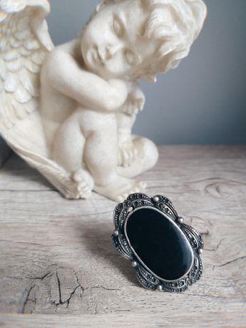 Кольцо винтаж с большим камнем бижутерия ретро времен ссср