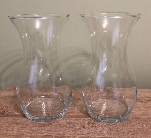 szklany wazon, świecznik, dekoracja, wysokość 25 cm, zgrabny
