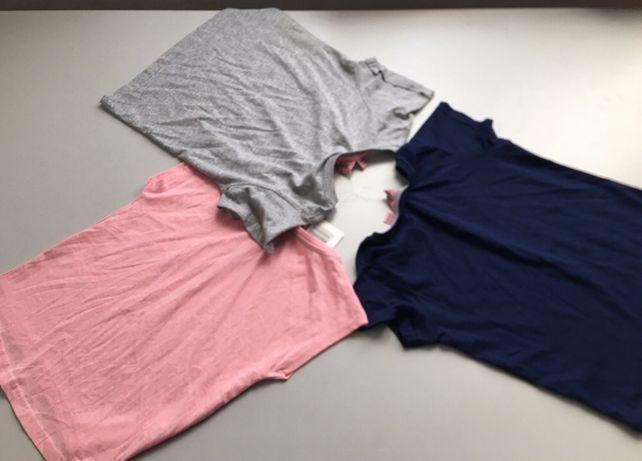 Набор хлопковых однотонных футболок на девочку рост 110 ALIVE