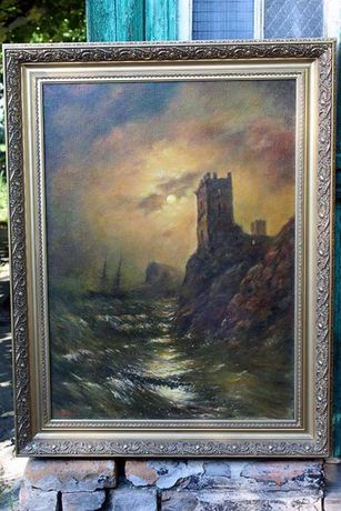 """Картина """"Башня. Кораблекрушение"""". И.К.Айвазовский."""
