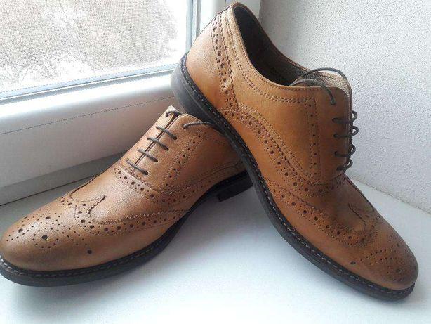 Мужские кожаные туфли броги Red Tape состояние новых