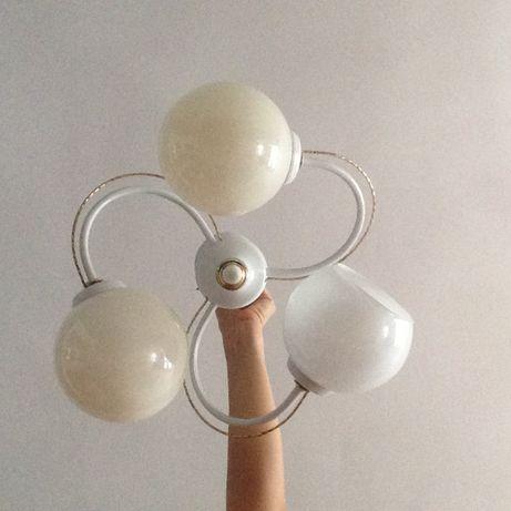 żyrandol lampa sufitowa 3 trzy punktowa biała
