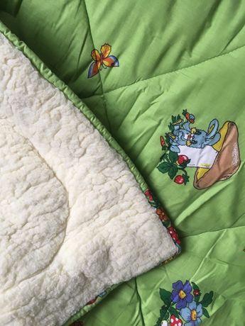 Детское теплое одеяло на овчине