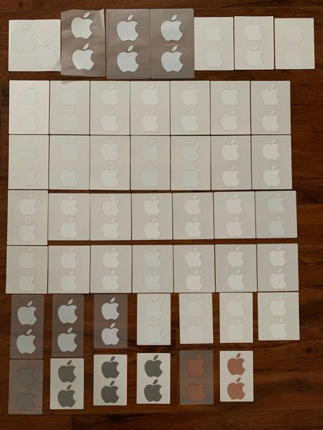 Apple naklejki - oryginał