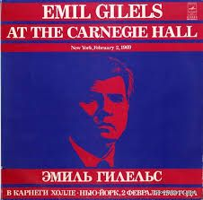 GILELS, EMIL - at the carnegie hall