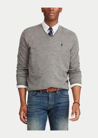 Реглан Ralph Lauren свитер мериносовая итальянская шерсть кофта лонгсл