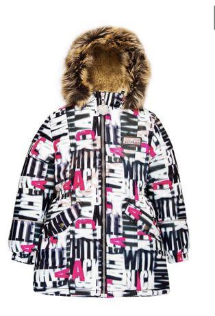 Пальто зимнее  на девочку Ленне.