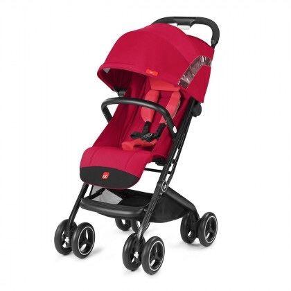 Прогулочная коляска GB Qbit+ Cherry Red red легкая детская и дождевик