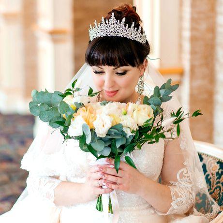 Свадебная диадема-корона и серьги