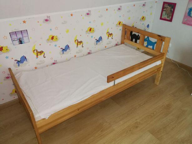Łóżko 70x160 IKEA wraz ze stelażem, materacem i barierką