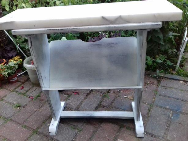 biała konsola,stolik handmade