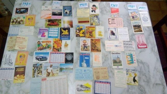 Mais de 80 calendários - 1977 a 2019