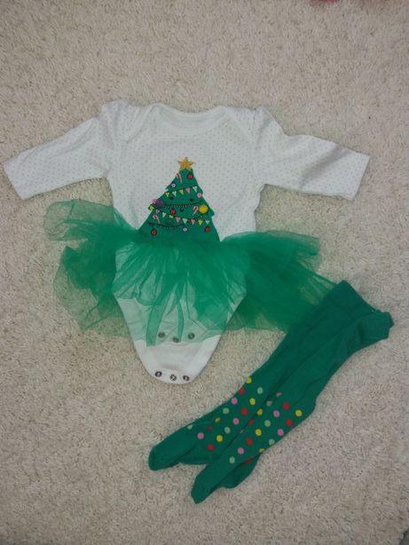 Новогодний костюм набор песочник елочка