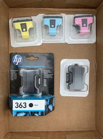 Tinteiros HP 363 originais, novos e selados.