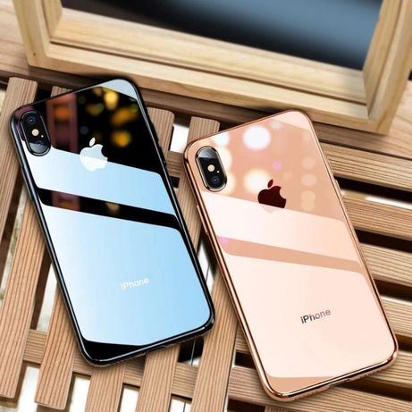 Чехол Glass case iPhone 6/7/7+/8/8+/X/11/Xr/Xsmax Стеклянный чехол