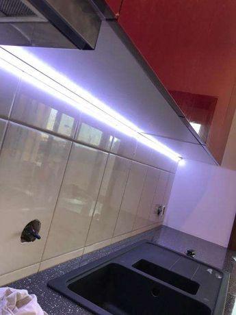 Calhas LED alumínio 50cm com fita LED 5050 Branco frio