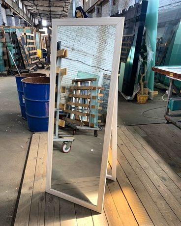 Большое Настенное Зеркало LOFT. Напольное в белой раме на заказ