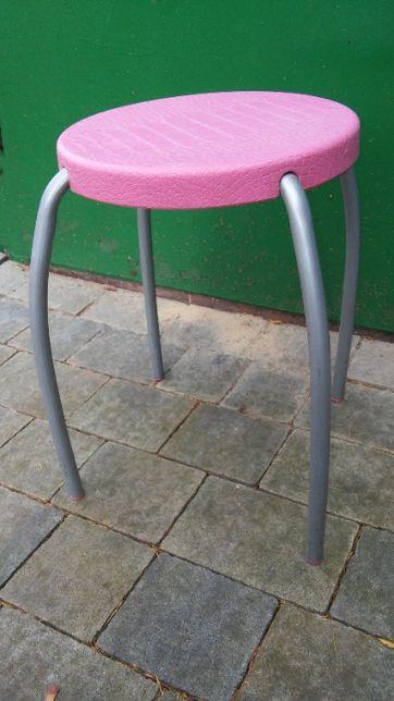 Taboret, stołek IKEA, okrągły, metalowe nogi
