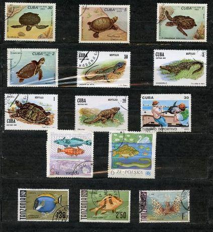 Почтовые марки ; Фауна моря.