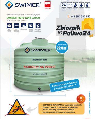 Zbiornik do nawozów płynnych,wody, RSM 22000 litrów ! SWIMER