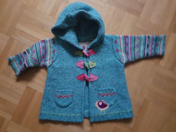 NEXT 6-9 mcy 68/74 cm sweter sweterek wdzianko kurteczka