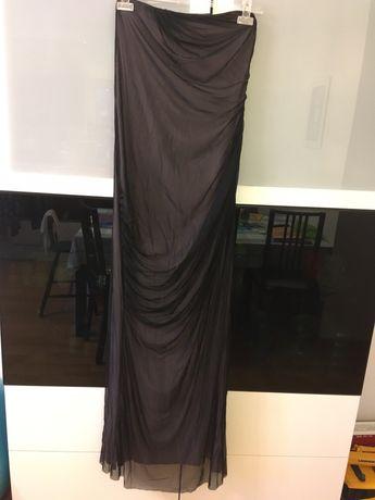 Sukienka ciążowa długa, elegancka