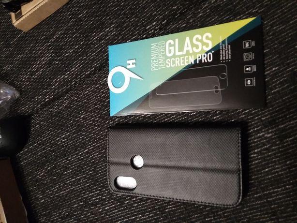 Etui czarne dla Xiaomi redmi 6 pro z szkłem na ekran