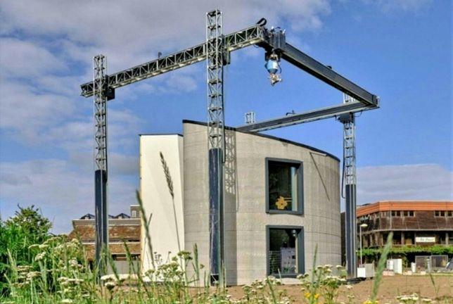 Строительство дома на строительном 3D принтере 3D печать дома