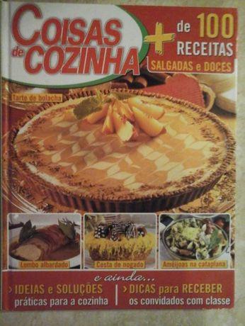 Livro Coisas de Cozinha, mais de 100 receitas capa grossa, novo