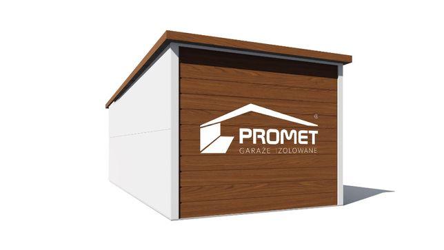 Mobilny garaż z płyty warstwowej 17m2 - izolowany Garaż Optymalny