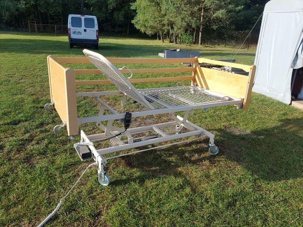 2 funkcyjne łóżko rehabilitacyjne z nowym materacem