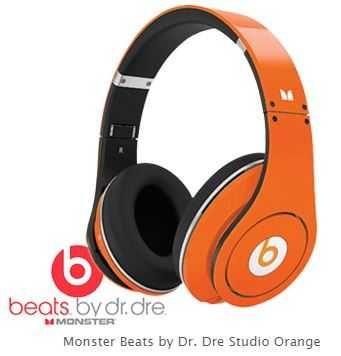 Słuchawki MONSTER BEATS BY DR. DRE Studio ORANGE - jak nowe