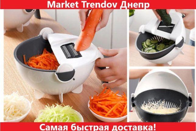 Многофункциональная вращающаяся овощерезка BASKET VEGETABLE CUTTER