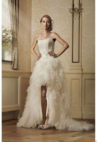 Suknia ślubna sukienka Nefra Z TRENEM PIĘKNA 3W1