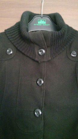 Płaszczyk czarny z flauszu roz s/m