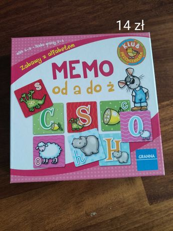 Memo gra dla najmłodszych, nauka liter