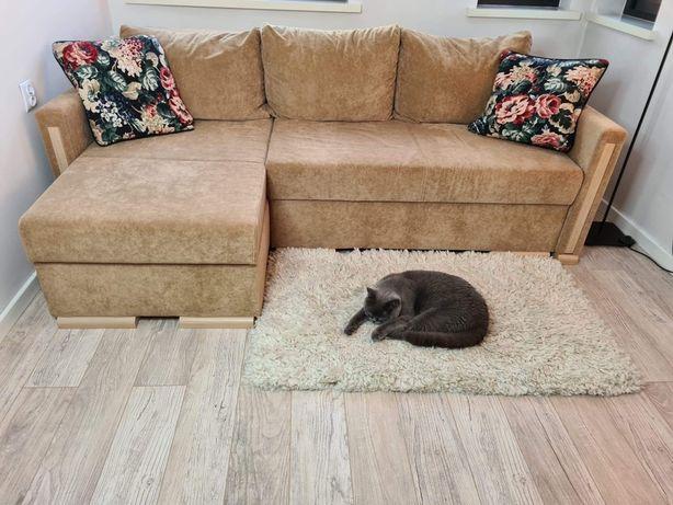Narożnik kanapa 220×145cm Dobrodzień rozkładany funkcja spania