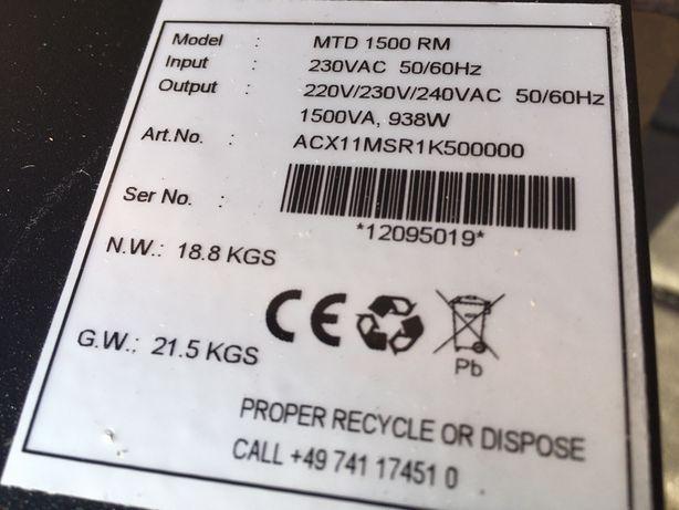 Effecta - UPS Awaryjny zasilacz bateria 230v 1kW Solar, Przetwornica