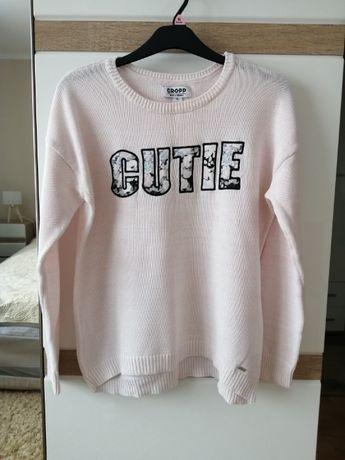 Sweter cropp roz 42 XL różowy