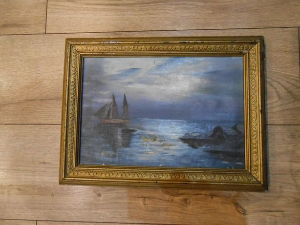Stary obraz olejny 1890