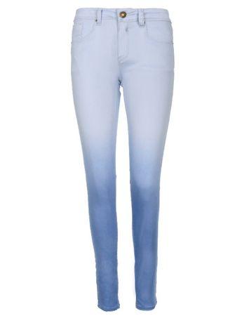 Spodnie długie damskie krój 5-pocket rurki wąskie zwężane L 40