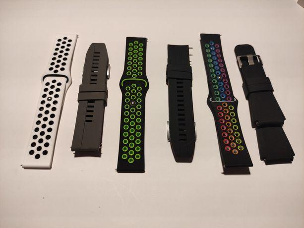 Braceletes de silicone para smartwatch - 22mm - várias cores