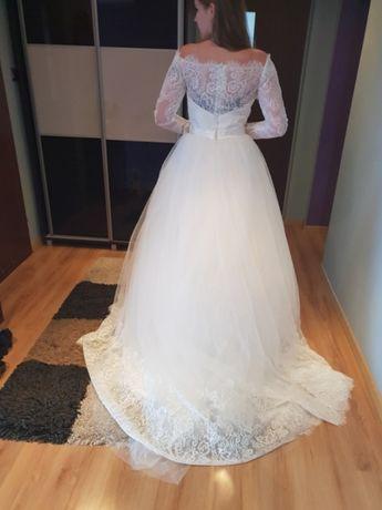Suknia ślubna nowa 38 na 175 i obcas