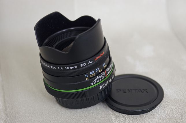 Об'єктив Pentax 15mm f / 4.0 DA ED AL Limited black