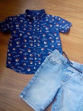 Футболка, рубашка, шорты 98 см, 3 года. Сорочка шорти літо 98 см