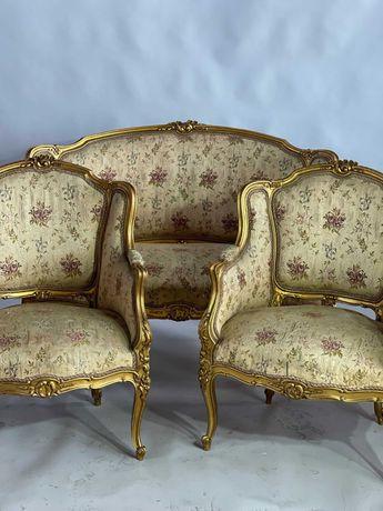 Komplet  Salon  kanapa , 2 fotela  Beregere styl Ludwik.XV Francja