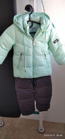 Костюм, зимняя куртка и полукомбинезон