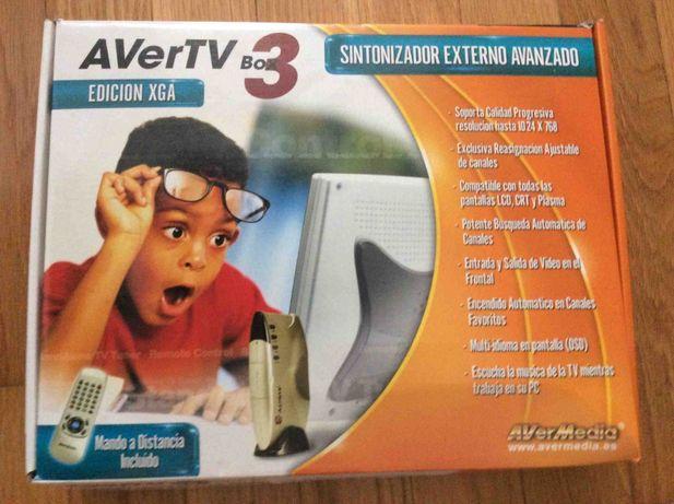 Sintonizador TV Externo (AverTVBox3) - Cx. Original (Aveiro/Gaia)