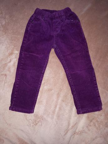 Вельветовые теплые штаны 98