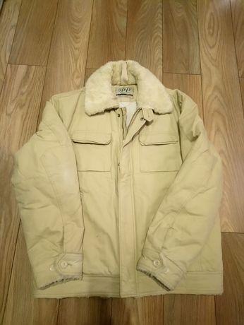 Kremowa kurtka męska na zimę